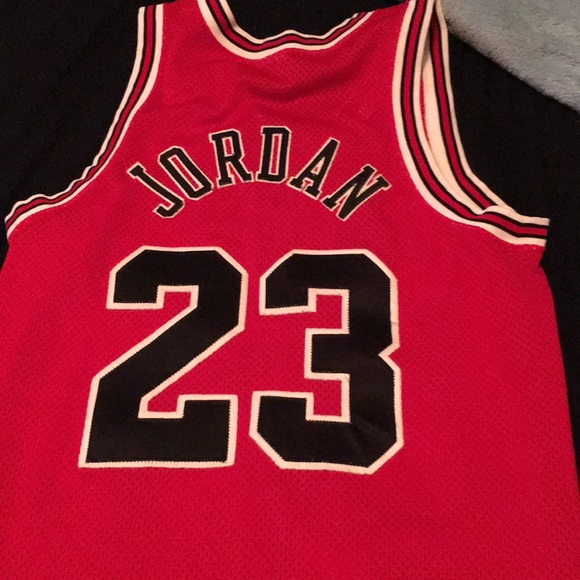 separation shoes ca3eb b1599 Michael Jordan Authentic Jersey Red Number 23